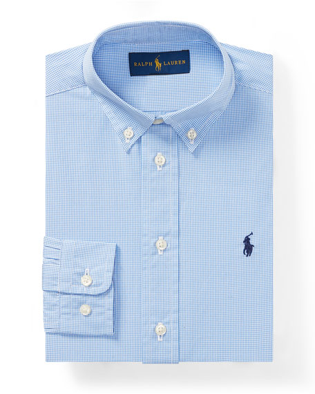 Ralph Lauren Childrenswear Poplin Check Collared Dress Shirt,