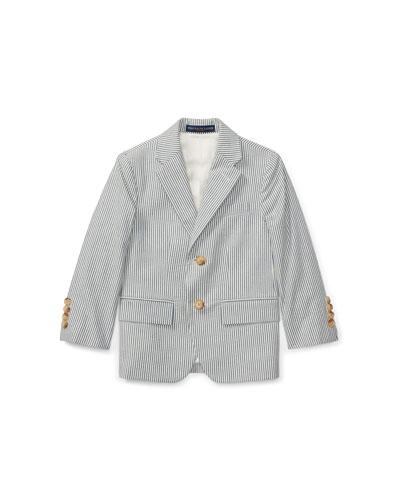 Seersucker Cotton Blazer, Size 2-3