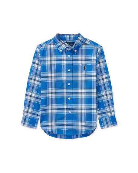 Oxford Performance Button-Down Shirt, Size 2-4