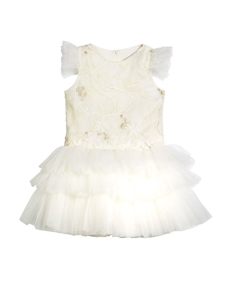 Little Miss Aoki Mini Ballerina Tulle Dress, Size