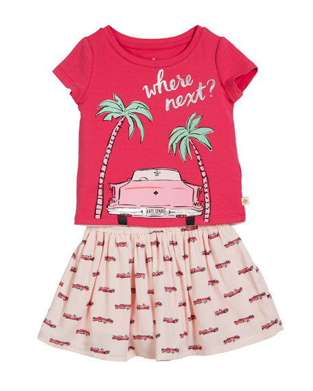 where next tee w/ hot rod skirt, size 2-6x