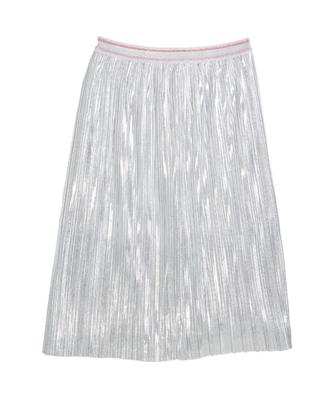metallic a-line skirt, size 7-14