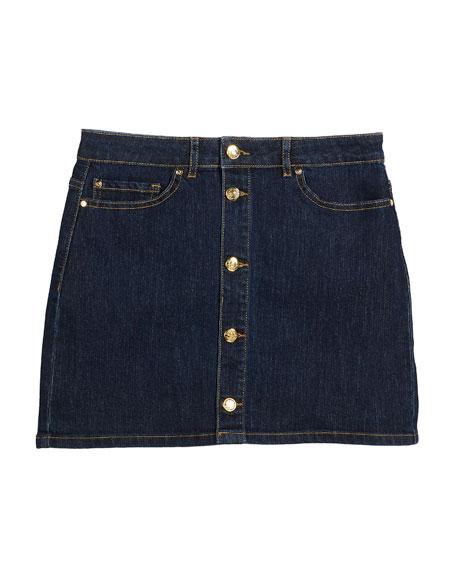 kate spade new york button-front denim mini skirt,