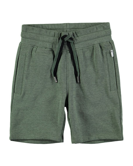 Molo Akon Cotton-Blend Drawstring Shorts, Size 4-10