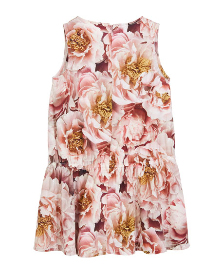 Catalina Peonies Sleeveless Dress, Size 3T-12
