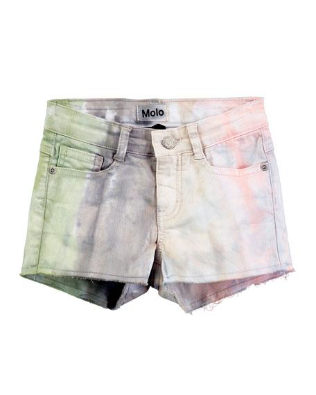 Molo Alisha Tie-Dye Raw-Hem Shorts, Size 4-12