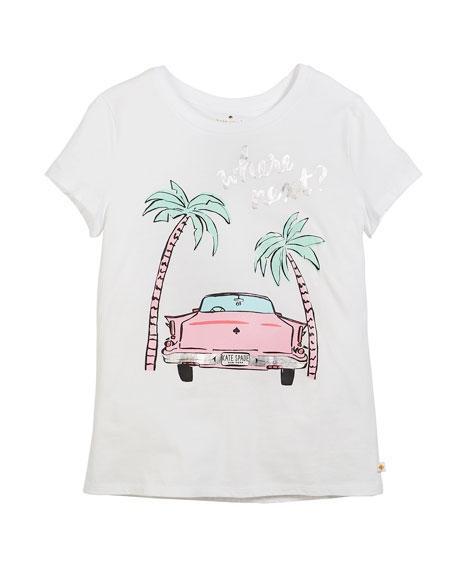 kate spade new york where next? short-sleeve tee,