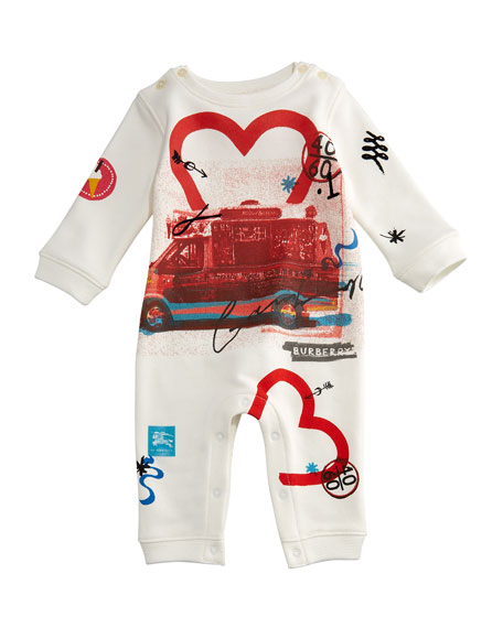 Burberry Adelle Ice Cream Coverall, Size 3-18 Months