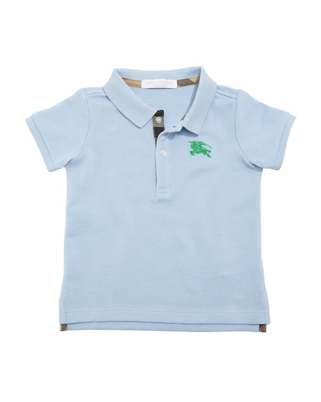 Burberry Palmer Short-Sleeve Polo Shirt, Blue, Size 6M-3Y