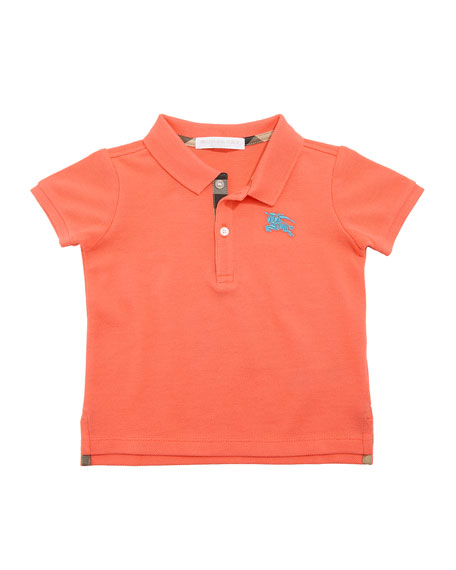 Burberry Palmer Short-Sleeve Polo Shirt, Pink, Size 12M-3Y