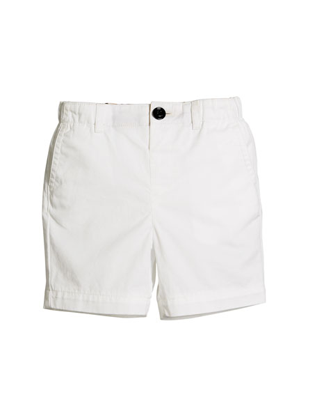 Burberry Sean Cotton Twill Shorts, Size 6M-3