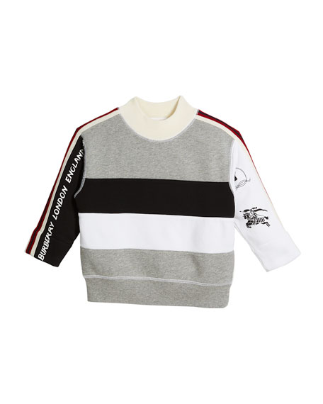 Burberry Henrick Colorblock Logo Sweatshirt, Size 4-14