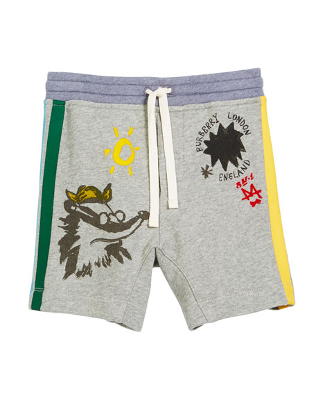 Badger Drawings Jersey Shorts, Size 4-14