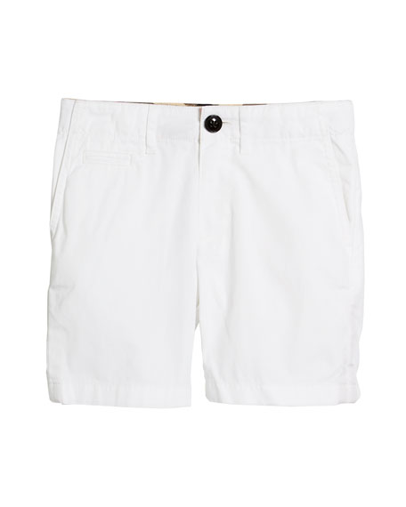 Burberry Tristen Lightweight Chino Shorts, Size 4-14