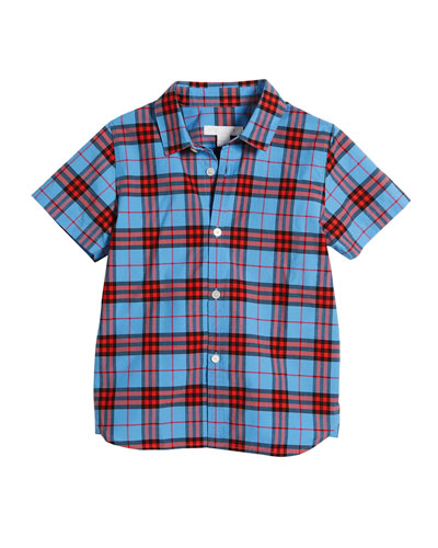 Clarkey Check Collared Shirt, Size 4-14