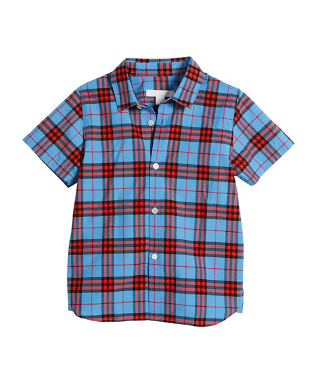Burberry Clarkey Check Collared Shirt, Size 4-14