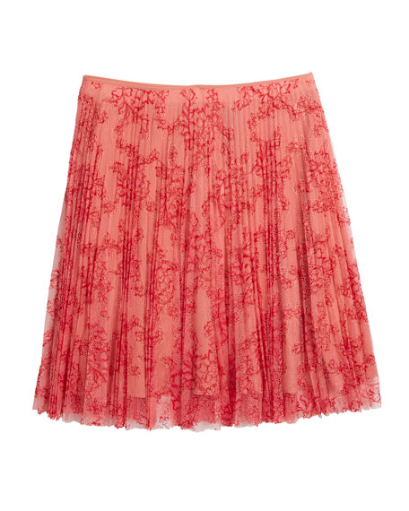 Wilton Pleated Lace Skirt, Size 6-14
