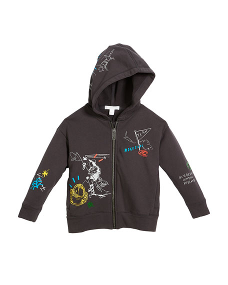 Sailing Scribble Zip-Up Hoodie, Size 4-14