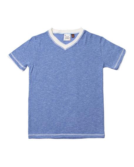 Jersey V-Neck T-Shirt, Size 2-8