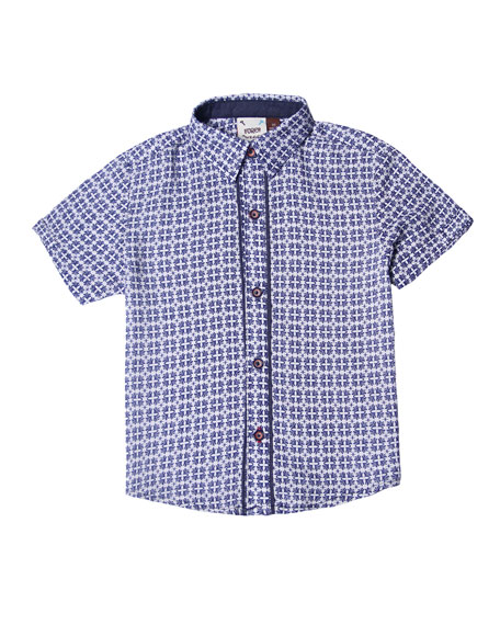 Fore Ace Patterned Collared Shirt, Size 2-8