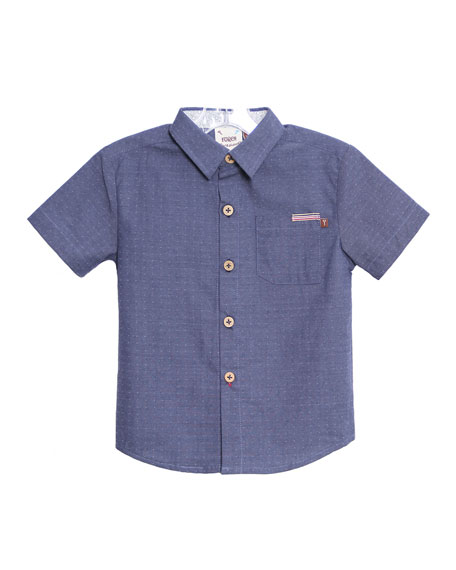 Fore Caddie Pin-Dot Collared Shirt, Size 2-8