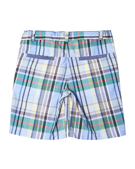 Plaid Cotton Shorts, Size 2-8