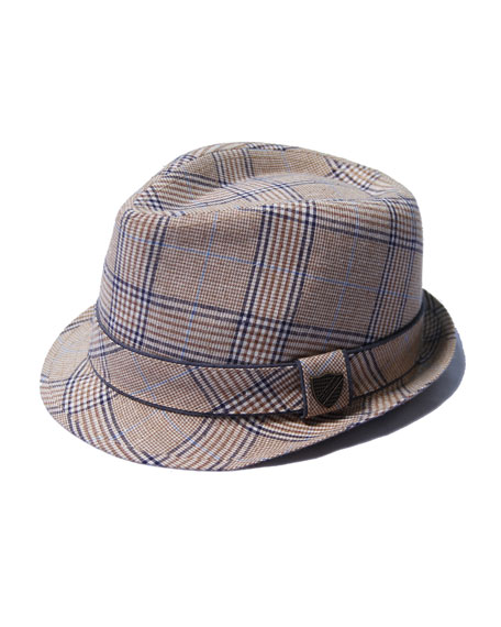Fore Boys' Plaid Fedora Hat