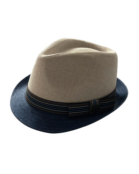 Boys' Two-Tone Fedora Hat