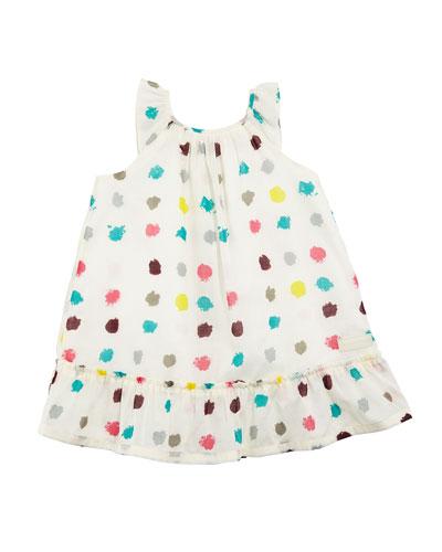 Tania Dot-Print A-Line Dress, Size 6M-3