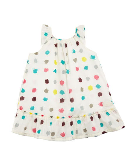 Tania Dot-Print A-Line Dress, Size 6M-3