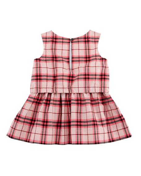 Maybel Drawstring Check Dress, Size 6M-3