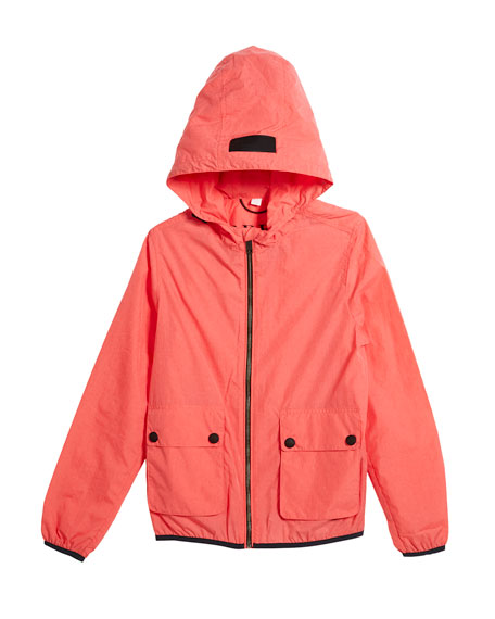 Burberry Hurst Hooded Rain Jacket, Size 4-14