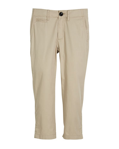 Teo Straight-Leg Twill Pants, Size 4-14