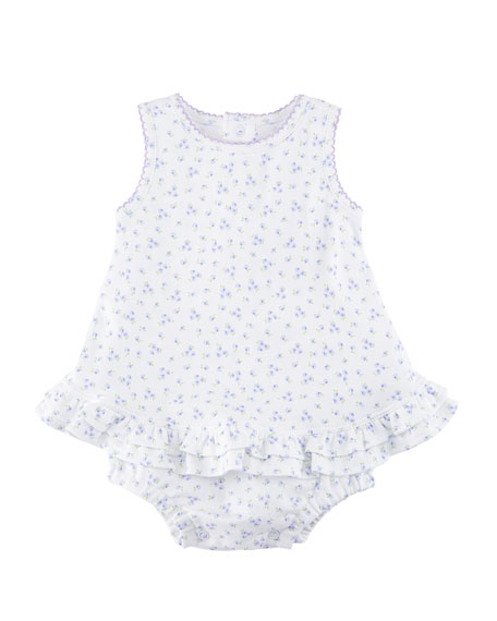 Little Girls Dreams Floral Bubble Bodysuit, Size 0-9 Months