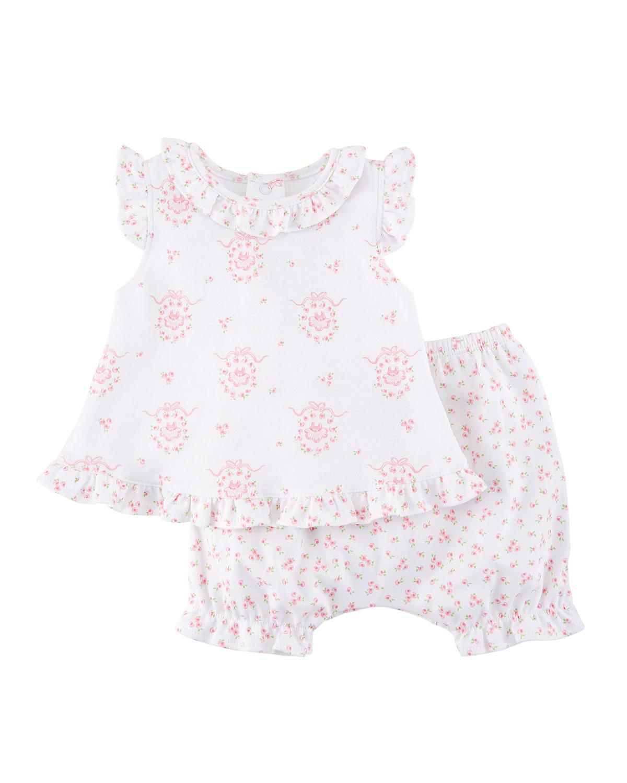 c29420e30 Kissy Kissy Little Girls Dreams Printed Pima Outfit Set