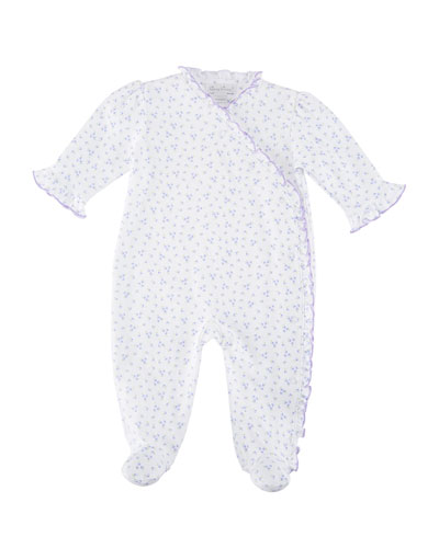 Little Girls Dreams Ruffle Footie Playsuit, Size Newborn-9 Months
