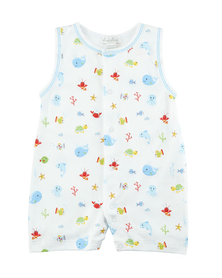 Ocean Treasures Printed Pima Playsuit, Size 3-24 Months