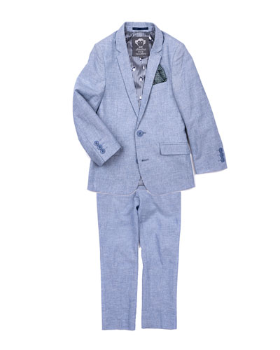 Boys' Mod Two-Piece Suit, Size 2-14