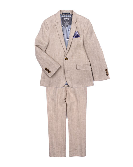 Appaman Boys' Khaki Mod Two-Piece Suit, Size 2-14