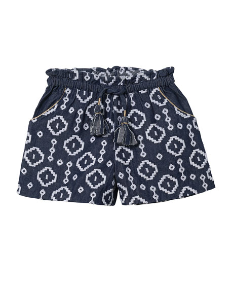 Embroidered Bermuda Shorts, Sizes 8-12
