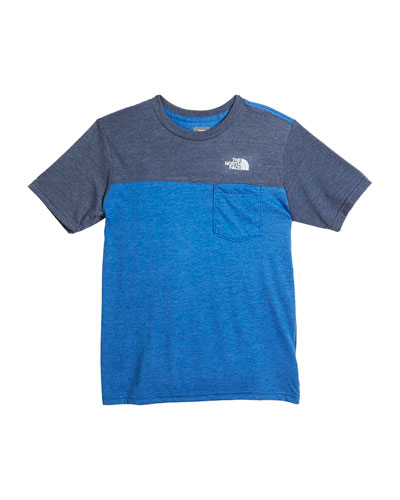 Tri-Blend Colorblock Pocket Tee, Size XXS-XL