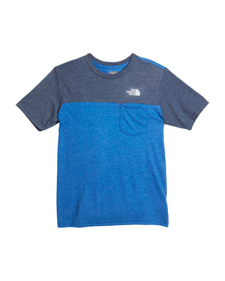 The North Face Tri-Blend Colorblock Pocket Tee, Size