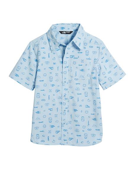 Short-Sleeve Pursuit Collared Shirt, Size XXS-XL