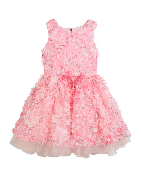 Zoe 3D Flower Party Dress, Size 2-6X