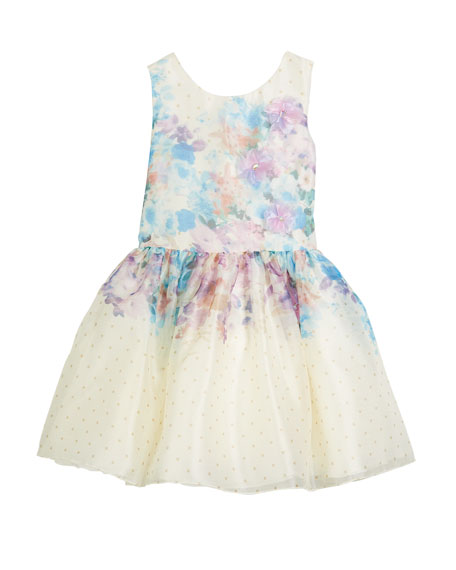 Zoe Ombr?? Floral Party Dress, Size 7-16