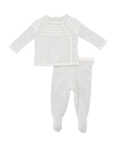 Take Me Home Knit Sweater w/ Footed Leggings, Size Newborn-3 Months
