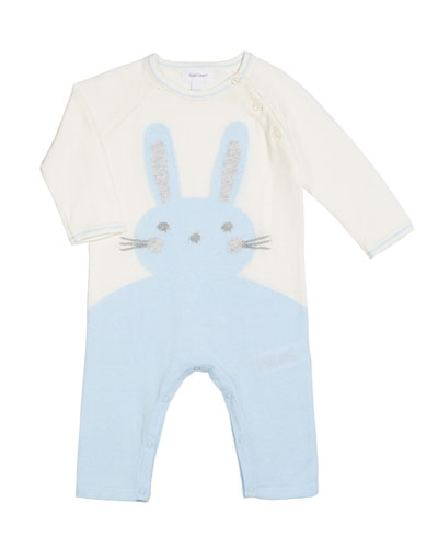 Bunny Intarsia Knit Coverall, Size 0-12 Months
