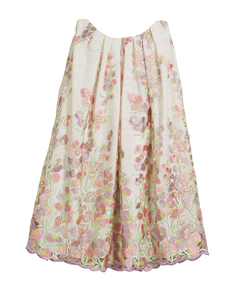 Helena Embroidered Sweet Pea Lace Dress, Size 7-14