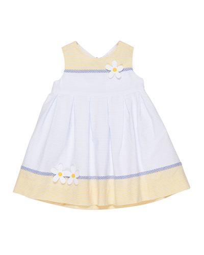 Buttercup Colorblock Stripe Seersucker Dress, Size 2-4