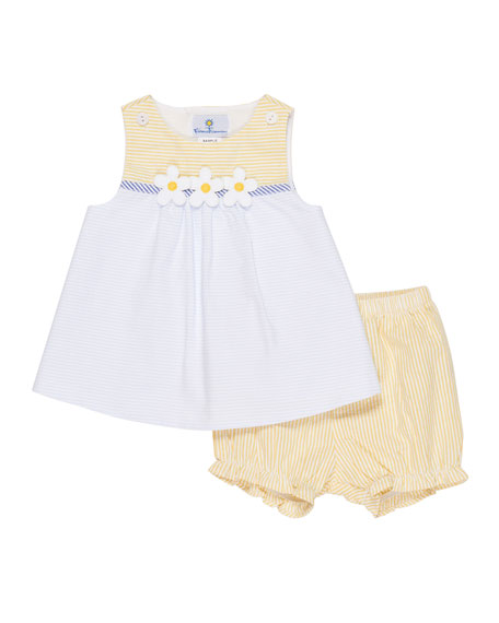 Florence Eiseman Buttercup Seersucker Dress w/ Bloomers, Size